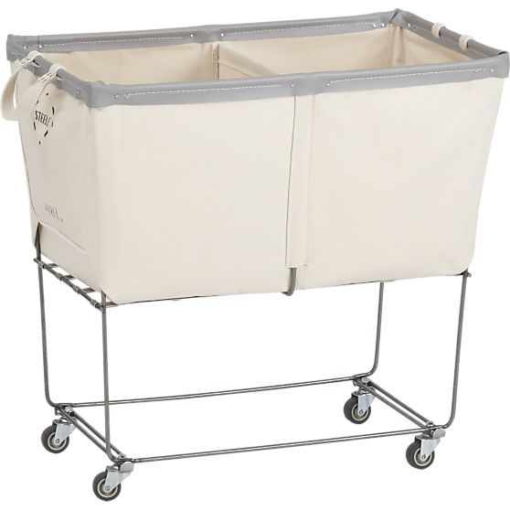Steele divided canvas sorter canvases laundry rooms - Divided laundry hampers ...