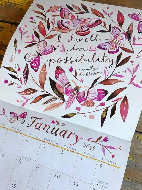 2019 Wall Calendar You Shall See Wonders Katie Daisy Calendar Layout Design Gestalten Und Fixer Upper