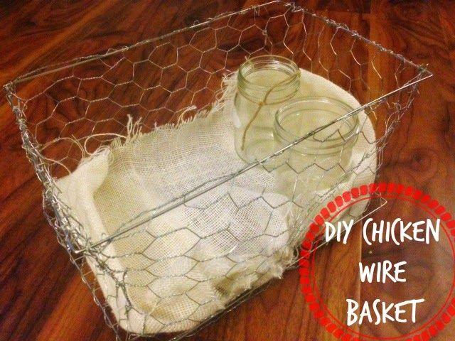 MinettesMaze: DIY Chicken Wire Basket- Vintage Knockoff | DIY | Wire