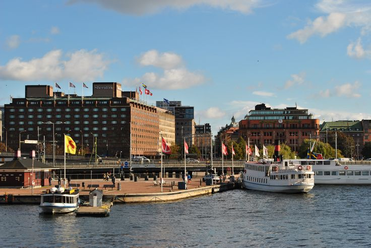 Across the road you find the Klara Mälarstrand with all its ferries. http://www.sheratonstockholm.com/en/waterfront-hotel-stockholm