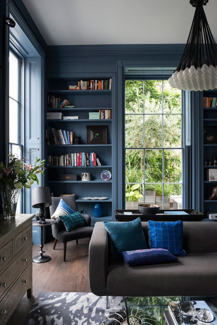 Paint colors for living rooms with dark trim - 9 Dark Rich Vibrant Rooms That Will Make You Rethink Everything You Know About