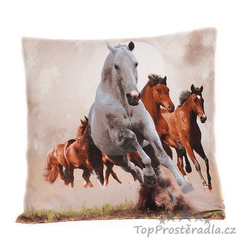 3D povlak 45x45 - Divocí koně :: TopProstěradla.cz