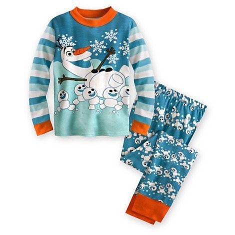 Disney Store Olaf and Snowgies Boys PJ PALS Pajamas
