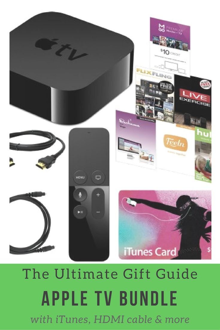 Christmas Gift Ideas Apple TV 32GB 4th Gen Bundle with iTunes, HDMI, Optical Cable & More. The future of television is here.   TV is a major part of our lives. We gather together around our big screens to watch big shows and big events. Yet somehow, the overall experience of TV has continued to stagnate. Until now. It all starts by recognizing that apps are the future of television. HBO NOW, WatchESPN, Netflix, Hulu, iTunes - apps are quickly becoming how we watch today. #affiliate