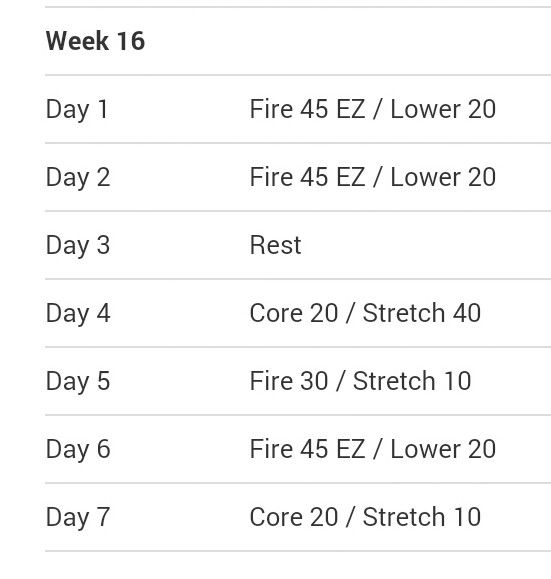fire schedule schedule week week 18 turbo girl exercise 9 chang e 3 ...