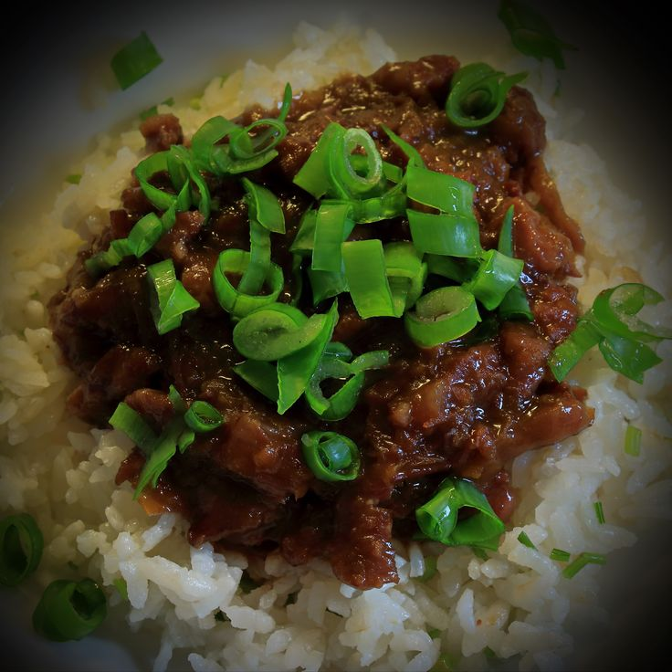 Mongolian beef in slow-cooker (10hrs low)