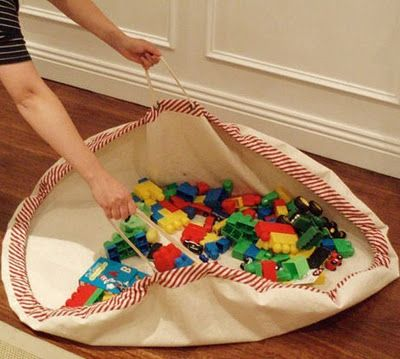 Play Mat Play Bag Easy Clean Up Sewing Lego Bag