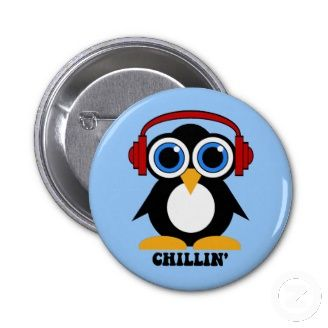 Popular Cool Pin Buttons. owl, chilling