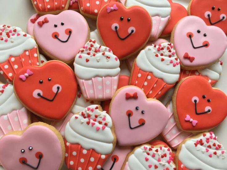 valentine cookies cookie decorating decorated cookies - Decorating Valentine Cookies