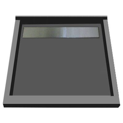 """Tile Redi 48"""" x 48"""" Triple Threshold Shower Base with Grate Finish: Tileable"""