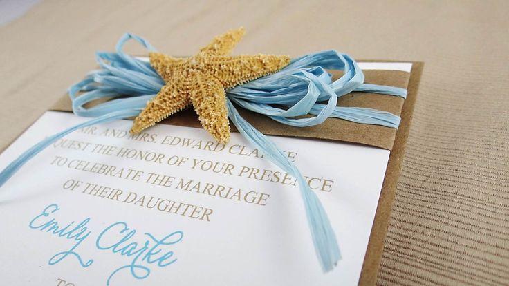 Beach Theme Wedding Invitation - Destination Wedding Invitation - Boxed Invitation by CordiallyInvitedShop on Etsy https://www.etsy.com/listing/218147890/beach-theme-wedding-invitation