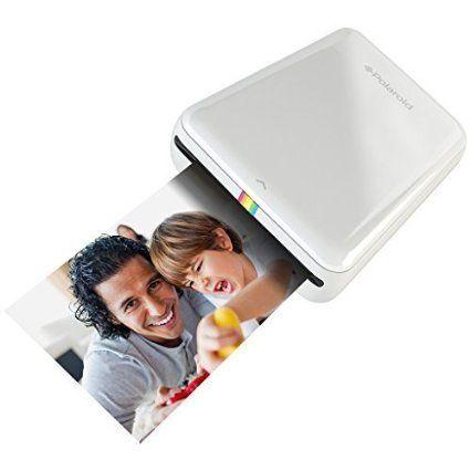 Polaroid ZIP Handydrucker mit ZINK Zero tintenfreier Drucktechnologie - Kompatibel mit iOS- & Androidgeräten - Weiss