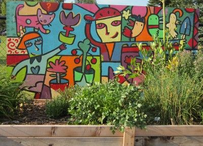 35 best images about community garden mural ideas on pinterest for Community mural ideas