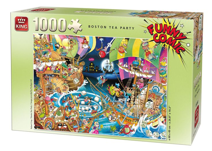 1000 Piece Funny Comic Cartoon Capers Jigsaw Puzzle - BOSTON TEA PARTY 05222 FOR SALE • £5.99 • See Photos! Money Back Guarantee. Toggle navigation About Us Visit our Shop Promotions Auctions Search Promotions Auctions About Us Search Top Categories Beach Goods Boats & Kayaks Camping, Tools, Gizmos Children's Clothing Face Paint Fancy 291751304971