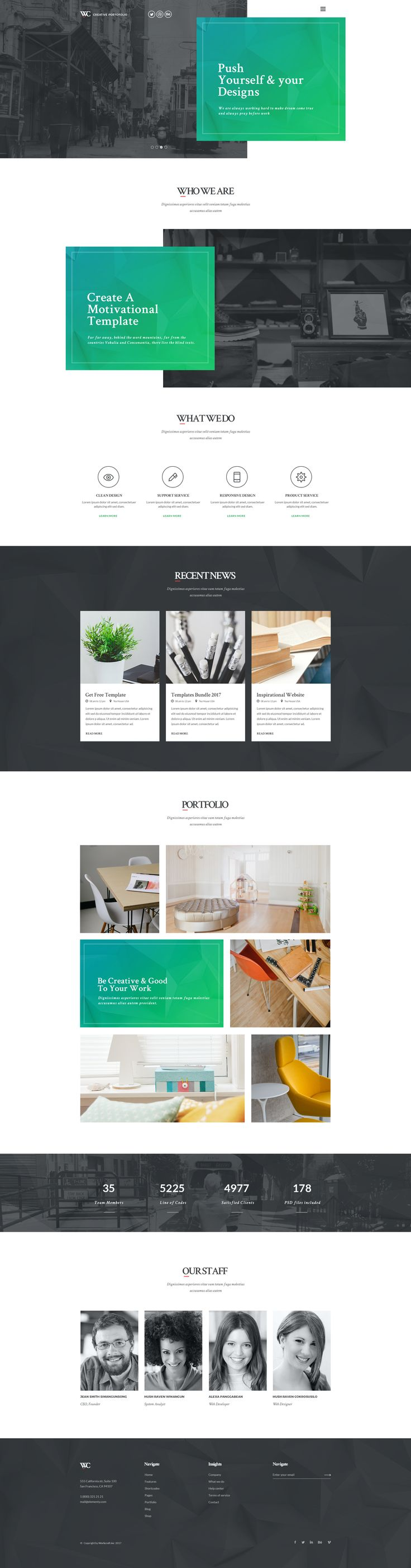 Woodcraft - One Page Creative Portfolio by vanpatelona | ThemeForest
