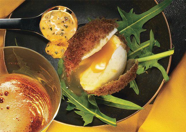 Deep-Fried Eggs with Sriracha Remoulade: Tasty Recipe, Sriracha Remoulade, Food, Breakfast, Recipes, Yum, Remoulade Recipe, Deep Fried Eggs