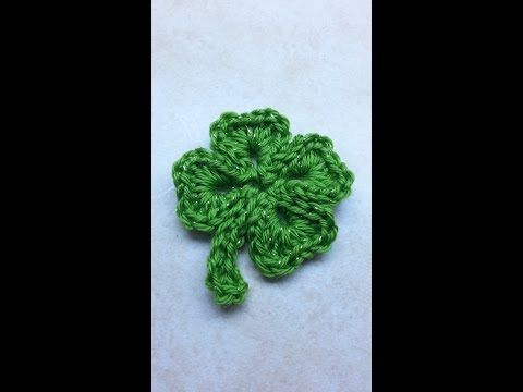 CROCHET How to #Crochet SHAMROCK St. Patricks Day 4 leaf clover #TUTORIAL #198 LEARN CROCHET - YouTube
