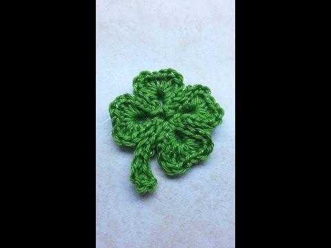 #Crochet #Shamrock St. Patricks Day Four 4 Leaf Clover #TUTORIAL DIY Shamrock - YouTube