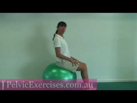 Hysterectomy recovery abdominal core fit ball exercises by Pelvic Exercises.com.au core stability life