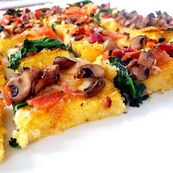 Polenta Pizza | Brown Eyed Baker