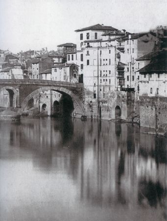 Vintage photograph of the Ponte Cestio, circa 1880