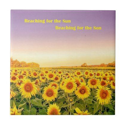 Decorative Tile - Field of Sunflowers - decor gifts diy home & living cyo giftidea