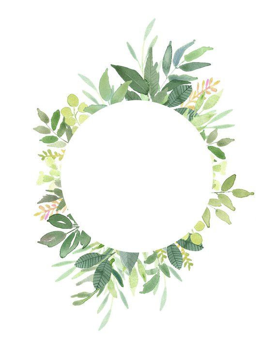 Green Leaves Frames Foliage Clipart Greenery Wedding Etsy Frame Clipart Clip Art Etsy Branding