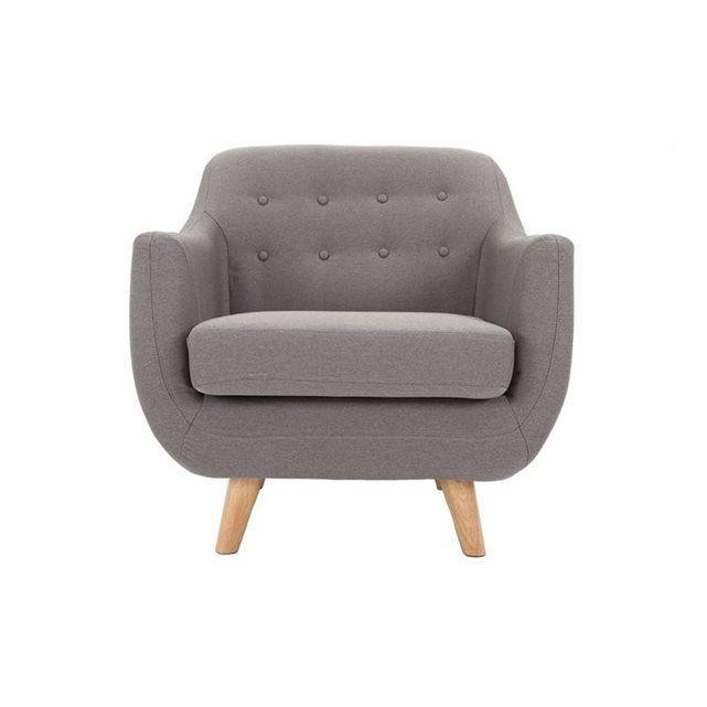 Adorable, ce fauteuil YNOK saura jouer de son charme pour vous plaire.    Formes arrondies et aériennes, revêtement en tissu, dossier capitonné, piétement en bois clair, ce fauteuil bénéficie d'un ensemble de caractéristiques qui s'harmonisent parfaitement bien. Association des années 50 et du style scandinave, il saura trouver sa place dans tous types d'intérieurs.     Confort et finesse sont les maîtres mots de celui ci.    Ce fauteuil se décline en colorisgris anthracite,gri...