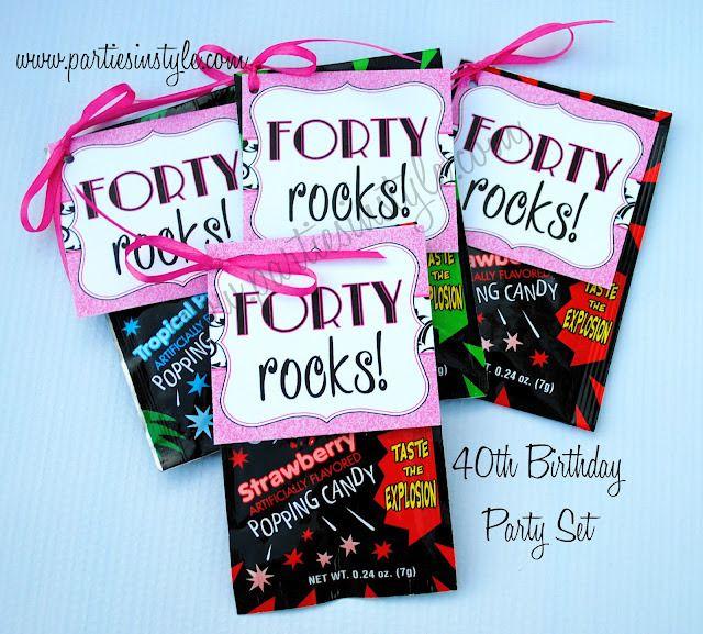 Best Th Birthday Favors Ideas On Pinterest Th Bday Ideas - 40th birthday party favors ideas