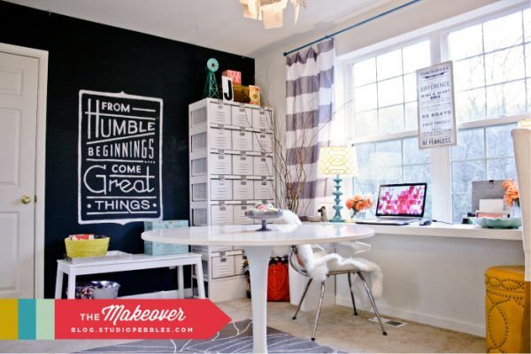 Top 10 Creative Craft Rooms - love the glam touches