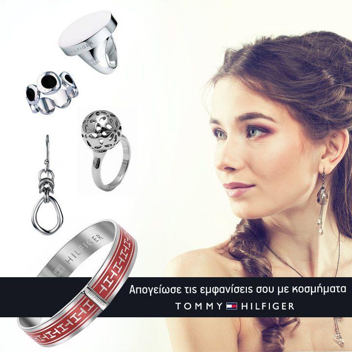 """Απογείωσε τις εμφανίσεις σου με τα πιο stylish κοσμήματα της συλλογής """"Tommy Hilfiger"""" για λίγες ημέρες μόνο!! www.brandsgalaxy.gr"""