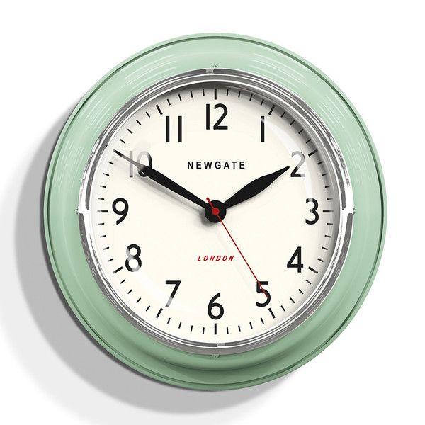 Wonderful Cool Kitchen Clocks Part - 6: Newgate Cookhouse Kettle Green Wall Clock