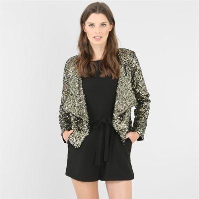 Pimkie.it : La giacca glitter dorata è IL capo che fa risaltare il colorito e sublima la silhouette in un batter d'occhio!