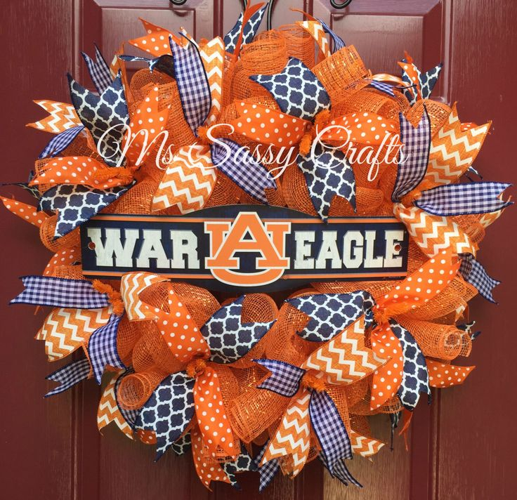 Auburn Wreath - War Eagle- War Eagle Wreath - Auburn Tigers - Auburn University - Auburn Deco Mesh Wreath by MsSassyCrafts on Etsy https://www.etsy.com/listing/240658021/auburn-wreath-war-eagle-war-eagle-wreath