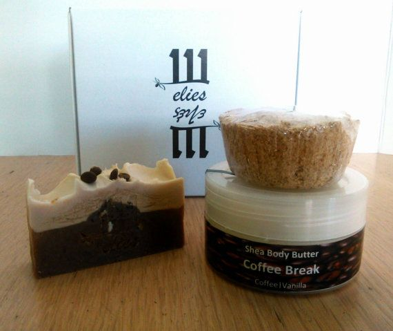 Soap Bath Fizzy Body Butter Home Spa Gift Set  Coffee by 111elies