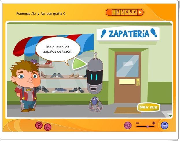 """La ortografía: Fonemas """"k"""" y """"z"""" con sonido """"c"""" (Aplicación interactiva de Lengua Española de Primaria)"""
