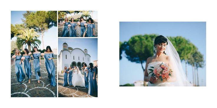 Рим 31.10.14 Очень радует модный аквамариновый цвет в расцветке платьев подружек невесты и такое же глубокое синее небо вечернего Рима.  #agencymary #wedding #bluewedding #Rome #photo