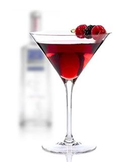Its So Berry Martini --- 1 1/2 oz. Absolut or Absolut Raspberry Vodka * 1/4 cup fresh or frozen raspberries * 1/4 oz lime juice * 1/4 oz simple syrup. --- add all incredients into a cocktail shaker filled with ice. shake and strain into a martini glass with fresh raspberries.