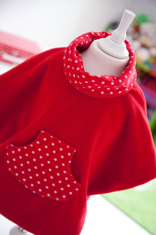 In german but sure i can google translate... COSY CAPE - KIDS PONCHO FOR AUTUMN DAYS