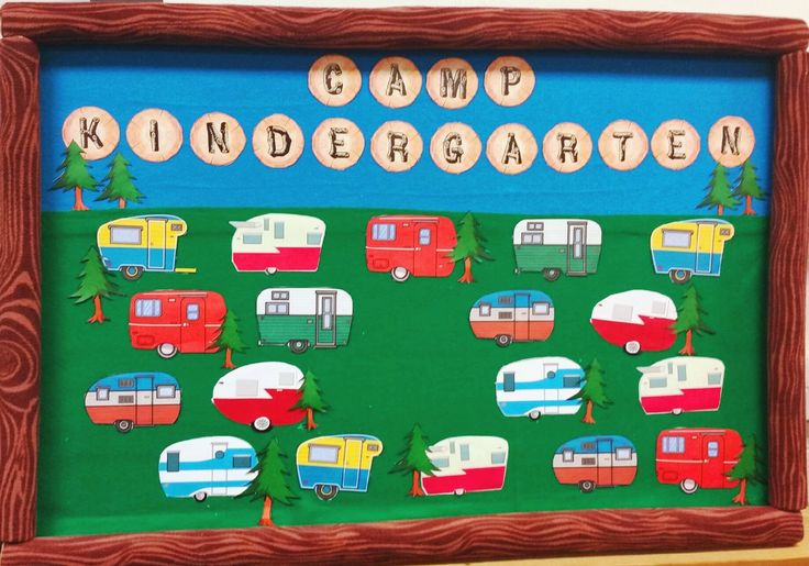 Classroom Ideas Camping Theme ~ Vintage style campers for the hall bulletin board each