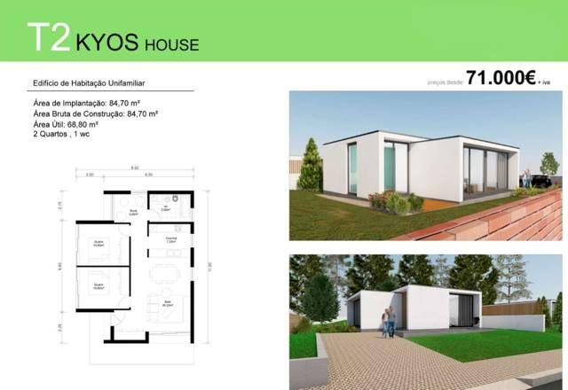T2 KYOS HOUSE  Deixe a realidade sobrepor-se à imaginação... T2 Kyos House para si e para a sua família, desde € 71 000 euros (+iva). Contacte 968 542 583