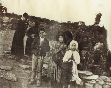 Francisco, Lucia and Jacinta, the Our Lady of Fatima Children 1917: The visionaries  brought messages from the Blessed Virgin Mary of the conversion of souls, prayer messages, penance and warnings of the world of Word War  II, Russia and our current affairs of Church persecution, new war and the Holy Father.