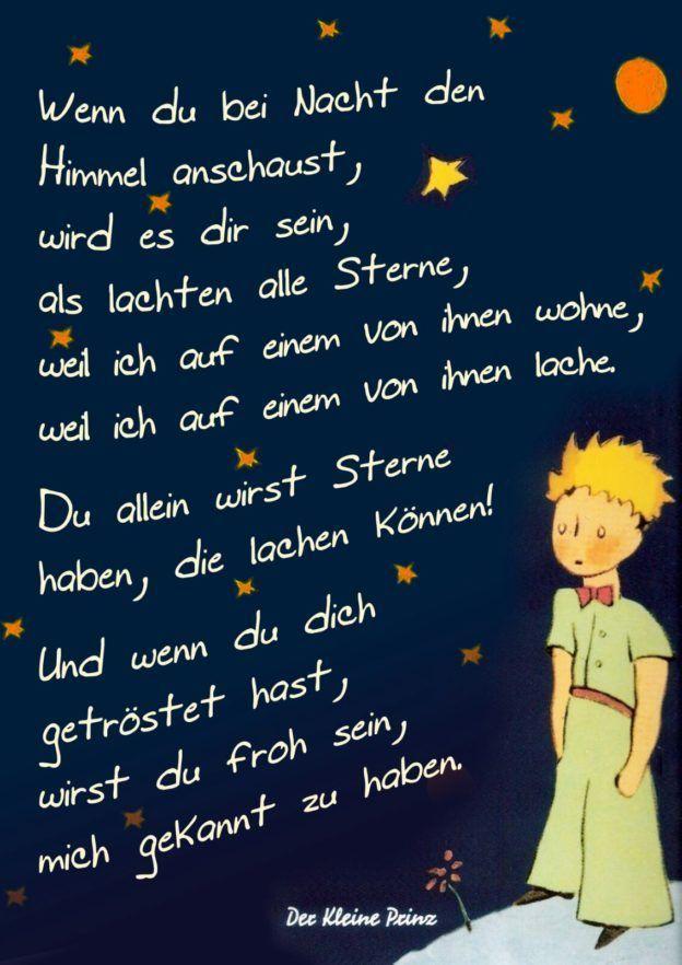 Der kleine Prinz: Wenn Du bei Nacht den Himmel ans…