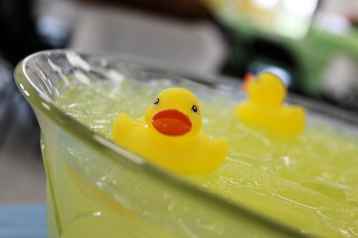 Punch with Rubber Ducky's