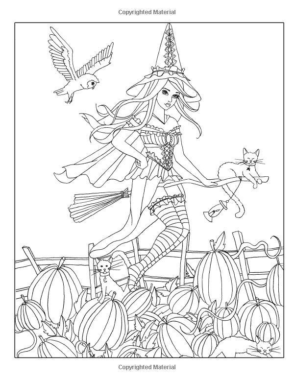 Spellbinding Images A Fantasy Coloring Book Of Witches Volume 1 Nikki Burnette