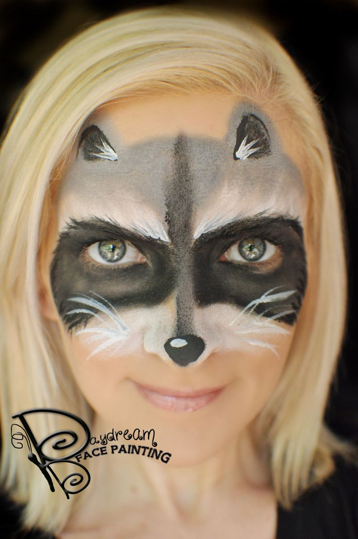 Fun & simple raccoon mask - by Amanda Moody, Daydream Face Painting