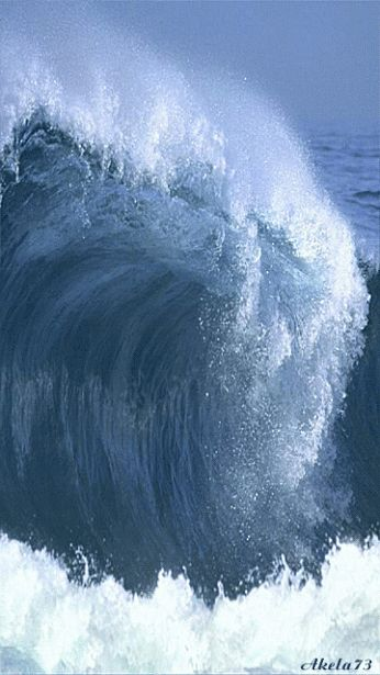 Cresting wave amazing.. A collection of CLICK ON THE PICTURE (gif) AN WATCH IT COME TO LIFE.. ...♡♥♡♥Love it