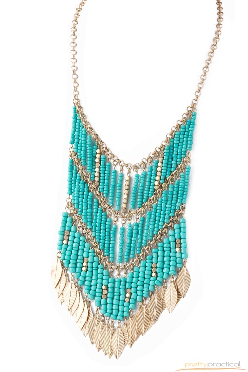 Tiana Beaded Necklace in Turquoise: Beaded Necklaces, Beads Necklaces, Simply Fabulous, Tiana Beads, Bibs Necklaces