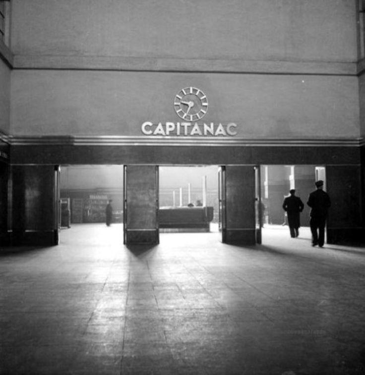 Estacion Puerto de Valparaiso Hall de entrada años 50s fuente u chile