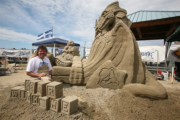 Canadian Open Sandsculpting Competition  Exhibition, Parksville BC - July  August.
